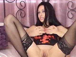 Brunette MILF Dildoing Her Pussy