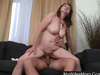 His fat shaft buried deep in his wife s mom