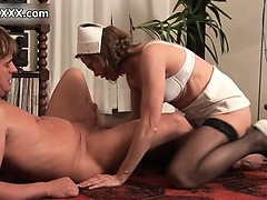 Dirty mature whore goes crazy sucking