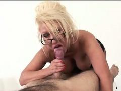 Busty british femdom milf titfucks