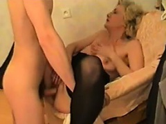 Mature Blonde Having Fun With A Young Guy