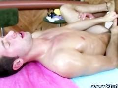 Mature gay masseur assfucks hot straight guy
