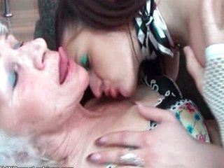 Nasty mature lesbians get horny