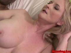 Mature blonde gets her fat ass fucked
