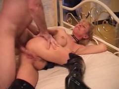 Sexy  Granny Blonde Banged In Boots mature mature porn granny old cumshots cumshot