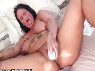 Busty mom gets her pussy wrecked