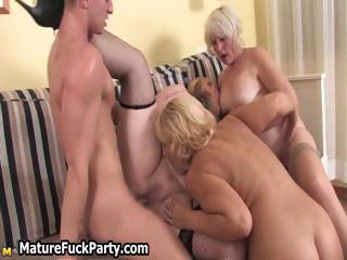 Mature busty moms are sucking cock part5