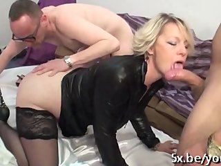 Mature Sophia anal fucked in front of her husband