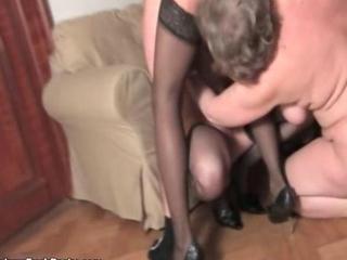 Dirty mature sluts go crazy sharing one cock