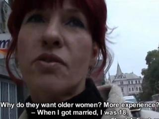 Redhead euro slut talks to a dirty pervert