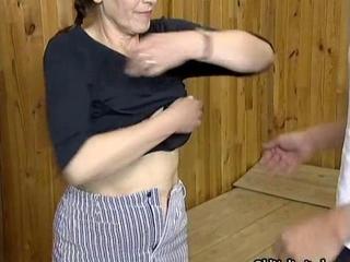 Nasty brunette housewive gets horny