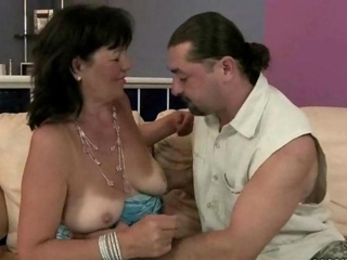 Ugly grandma getting fucked like she is young