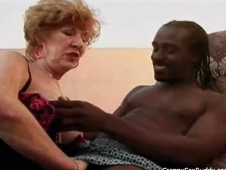 Lusty Granny Goes Black and never goes back