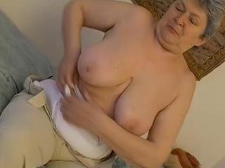 Granny and old granny masturbating together