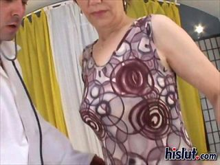 Chubby granny gets poked from the rear