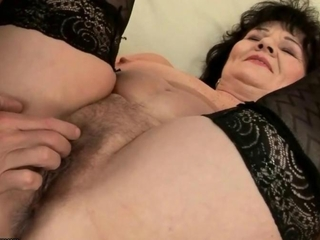 Fat grandma gets her pussy and ass fucked