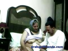 Horny Arab couple caught fucking by spy cam in hotel room